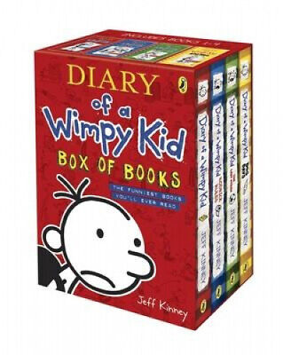 Diary of a Wimpy Kid Box of Books by Jeff Kinney.