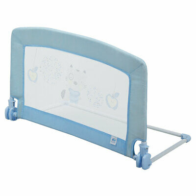 Safety Crib Rail Swing Down Baby Bed Rail For Toddler Kids Baby 35x20 Inch Blue