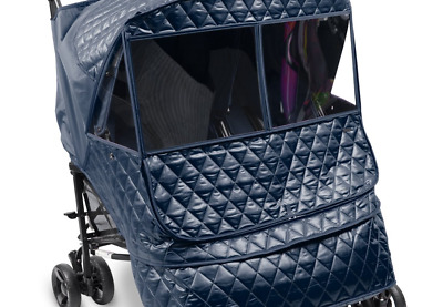 Manito Castle Alpha Twin Stroller Weather Shield (Navy) Navy