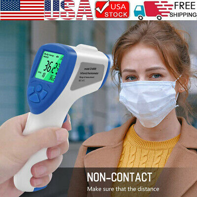 Non Contact Digital IR Infrared Forehead Thermometer Gun Human Body Temperature