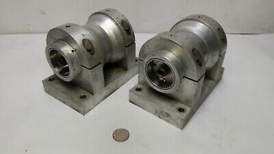 "Two Strainsert CBA-.5-1 Clevis Pin Sensors in Custom 4"" Aluminum Pulley / Block"