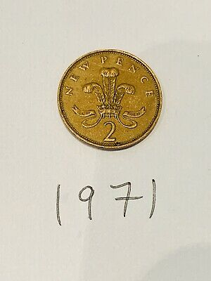 Extremely Rare 1971 2p New Pence 2Pence Coin Valuable Coin UK 2p Collectors Coin