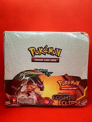 Pokémon Display box booster cosmic eclipse HP Anglaise cartes fan cards REPLICA