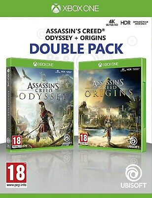 Assassin's Creed Origins + Odyssey Double Pack XBOX One 1 Video Game UK Release