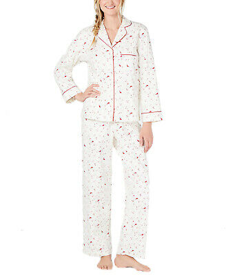CLEARANCE!! Charter Club 100% Cotton Printed Flannel Pajama Set Cardinal Large