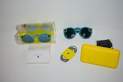 Snapchat Spectacles Glasses Blue Great Condition with Charger