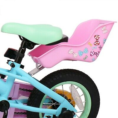 Doll Seat for Kid's Bike Girls Bicycle Dolls Holder Carrier Stickers Included