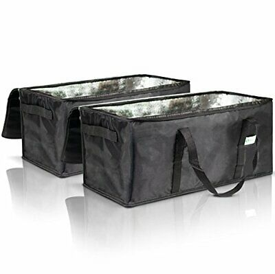 """KIBAGA Commercial Insulated Food Delivery Bags - 22"""" x 10"""" x 10"""" Waterproof D..."""