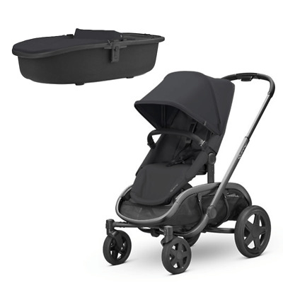 Quinny Hubb Pushchair with Carrycot - Black on Black