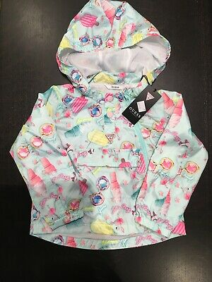 Lovely Guess Girls Lightweight Rain Jacket Age 5 NEW