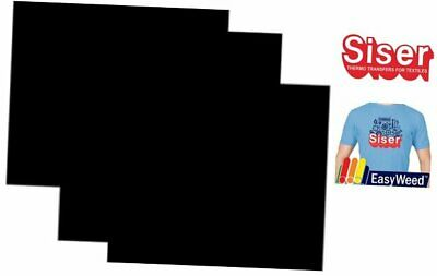 SISER EasyWeed Heat Transfer Vinyl HTV for T-Shirts 12 x 12 Inches 3 Black