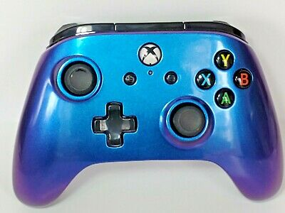 PowerA Enhanced Wired Controller for Xbox One & Windows 10, Cosmos Nebula Blue