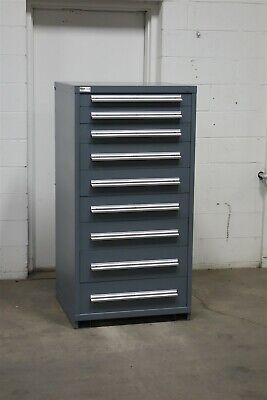 Used Stanley Vidmar 9 drawer cabinet industrial tool storage bin #2147