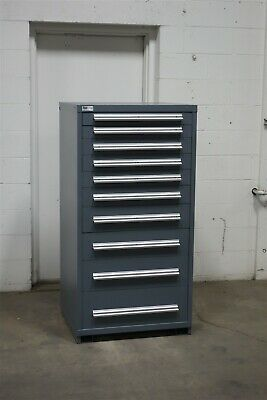 Used Stanley Vidmar 10 drawer cabinet industrial storage #2145