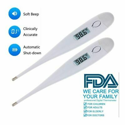 Digital Fever Thermometer for Adults and Kids Medical Oral/Rectal NEW(Pack of 2)