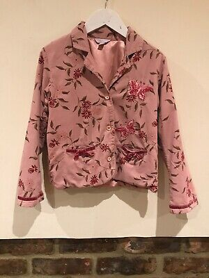Monsoon Lovely Girls Pink Jacket Age 6-8 Years Very Good Condition