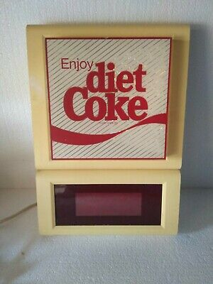 Vintage Diet Coke lighted wall clock Rare