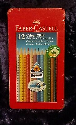 Faber-Castell Colour Grip Triangular Assorted Colouring Pencils Pack Of 12 BNIB