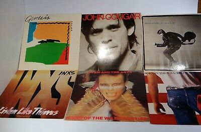 Lot Of 6 New Wave 80's Pop Rock Vinyl Record LP Albums