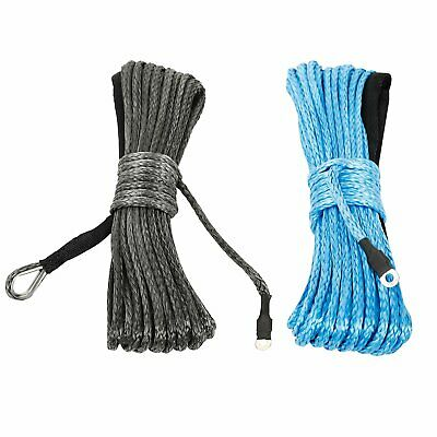 Synthetic Winch Line Cable Rope 7700/7000LBS 3/16'' x50' with Sheath ATV UTV SUV