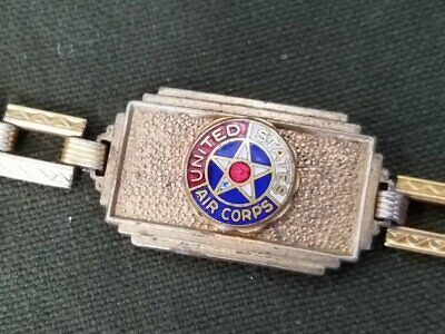 Vintage 1940s WWII United States Air Corps Bracelet Sweetheart Army
