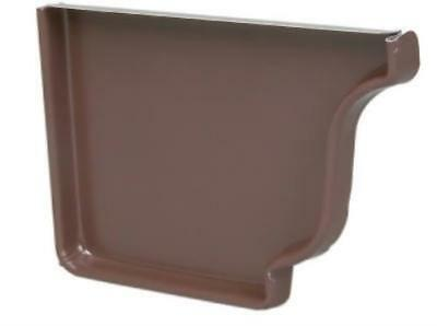 "10PC 5"" Brown Aluminum Right End Cap"