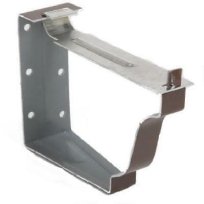 "2 Piece 5"" Brown Aluminum Snap-Lok Fascia Bracket 4PK"