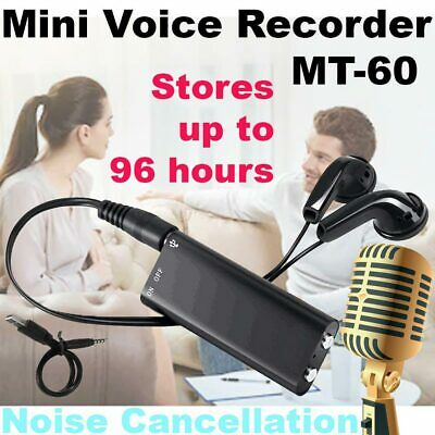 8GB Memory Mini Spy Audio Recorder Voice Listening Device 96 Hours Bug Recording