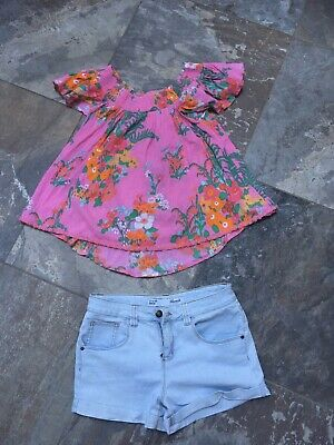 Girls Outfit 12-13 Years NEXT TOP 12 Years Primark Denim Shorts 12-13 Years