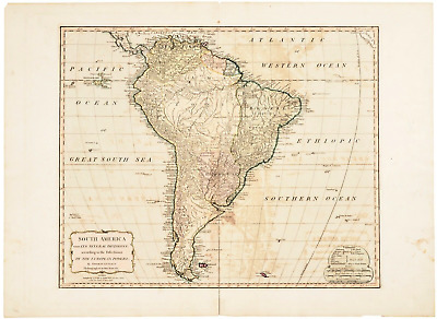 Thomas Kitchin South America Antique Map Dated 1794
