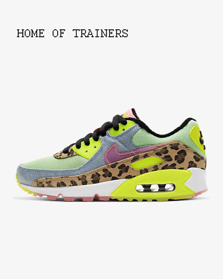 Nike Air Max 90 LX Illusion Green Black White Girls Women's Trainers All Sizes