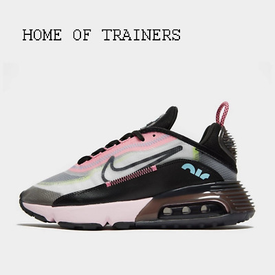 Nike Air Max 2090 White Black Pink Girls Women's Trainers All Sizes
