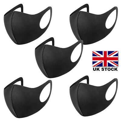 1/5/10 Reusable Washable Disposbable Face Masks UK Stock