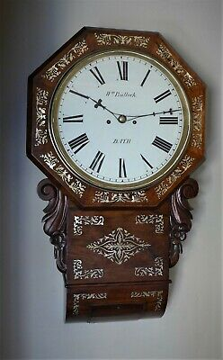19th Cent Rosewood Striking Fusee Dial Clock