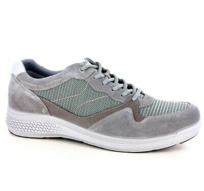 Chaussures Hommes Lacets IMAC Baskets Sport Art 303811 Avec Gris Made IN Italy