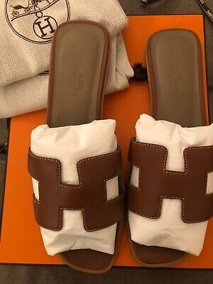 Authentic BRAND NEW never worn HERMES ORAN sandals T. 39- with receipt