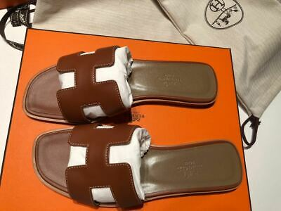 Authentic BRAND NEW never worn HERMES ORAN sandals T. 38 - with receipt