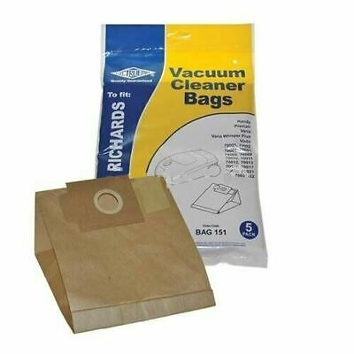 Electruepart BAG151 Morphy Richards Vacuum Cleaner Dust Paper Bag 5 Pack