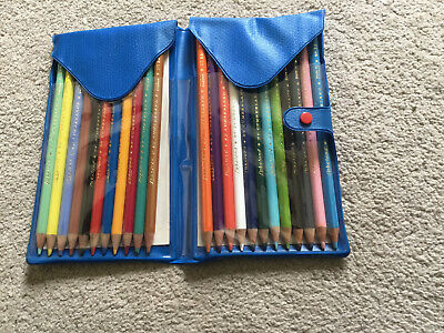 Vintage Lakeland By Cumberland Colouring Pencils In Original Case 1 Missing