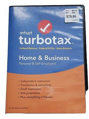 Intuit TurboTax Home & Business 2018 Personal & Self Employed DVD PC Disc