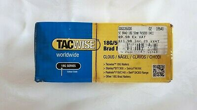 Tacwise 0401, 18 gauge 50mm Brad Nails x 5000