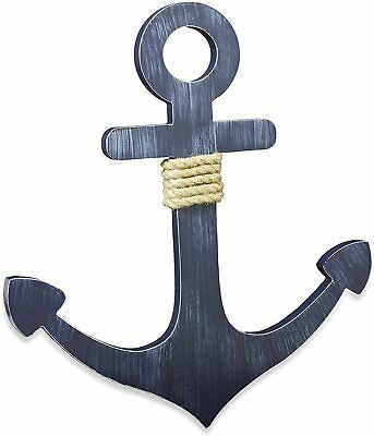 Wendy Bellissimo Landon Nursery Collection Anchor Wall Plaque in Navy