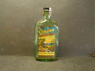 VINTAGE CORUBA JAMAICA RUM 4/5 pint BOTTLE - KINGSTON, JAMAICA