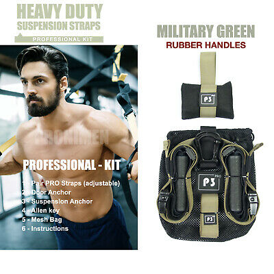 NEW Heavy Duty PRO P3-3 Suspension Trainer Strap Kit (Home Fitness & Gym)