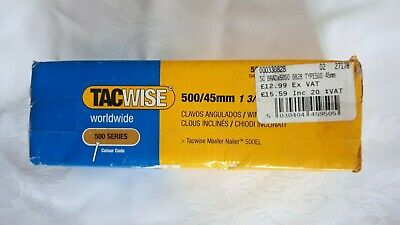 Tacwise 0828, 500 Series 45mm Galvanised Angled Brad Nails 5000 pack