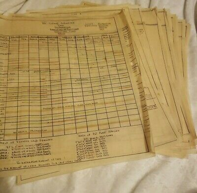 1950s Vintage Blueprints Greenhouse Small Retail Florist Monthly Crop Rotations