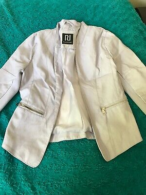 Girls jacket faux  leather River Island age 12