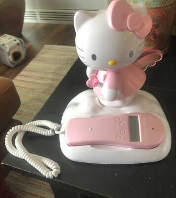 Hello Kitty Pink and White Telephone by Sanrio with Caller ID KT2010