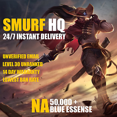 🎮 [SUMMER SALE] League of Legends Unranked Account NA SMURF LoL 40K + BE 🎮