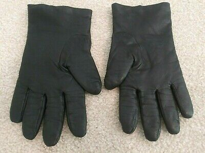 Vintage GATES Ladies Size Large L Black Leather and Cashmere Lined Gloves NEW